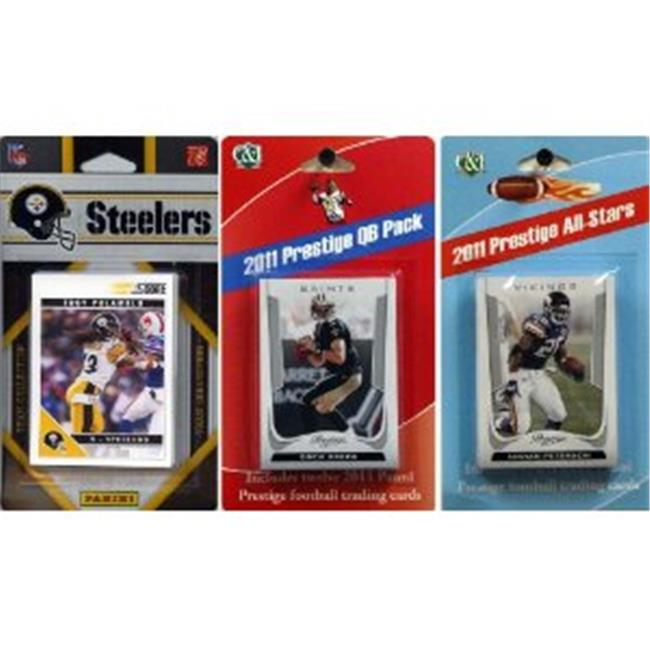 C & I Collectables 2011STEELERSTSC NFL Pittsburgh Steelers Licensed 2011 Score Team Set With Twelve Card 2011 Prestige