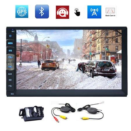 EinCar Linux Car MP5 Video Radio Player GPS Naviogation Car Stereo Audio  Multimedia System in Dash Unit Double 2 Din Autoradio Bluetooth with 7 inch