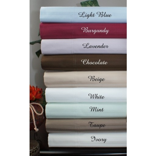 """21"""" Deep Pocket- 5 SIZES-1200 Thread Count Striped Egyptian Cotton Bed Sheet Sets"""
