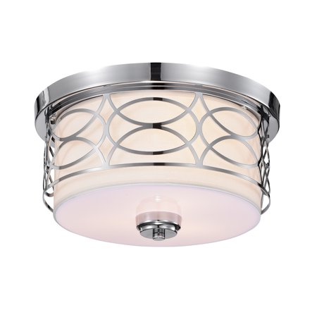 Spenn 3-Light Chrome Design Flush Mount Ceiling Lamp