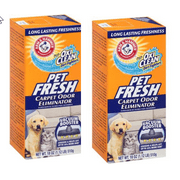 (2 Pack) Arm & Hammer Pet Fresh Carpet Odor Eliminator, 18oz