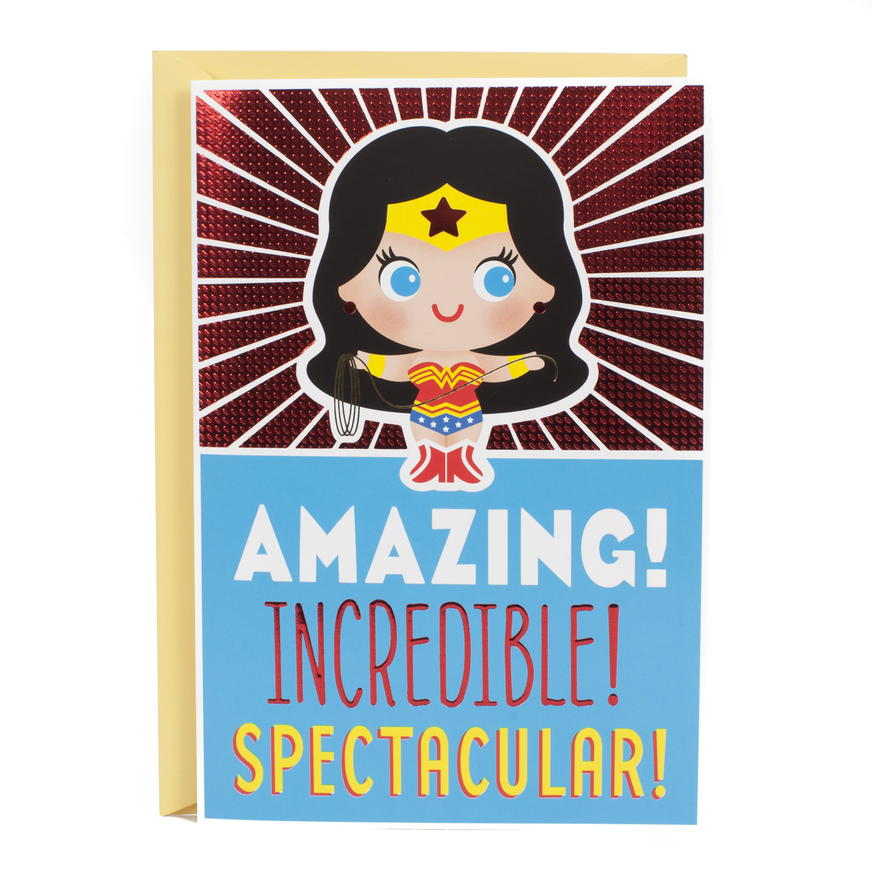 Hallmark Birthday Greeting Card Wonder Woman Walmart Com Walmart Com