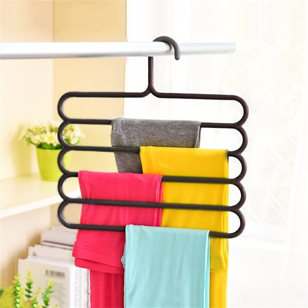 Household & Laundry Supplies 5 Layers design Multifunctional Multi-layer Clothes Pants Fold Slip Hanger Rack