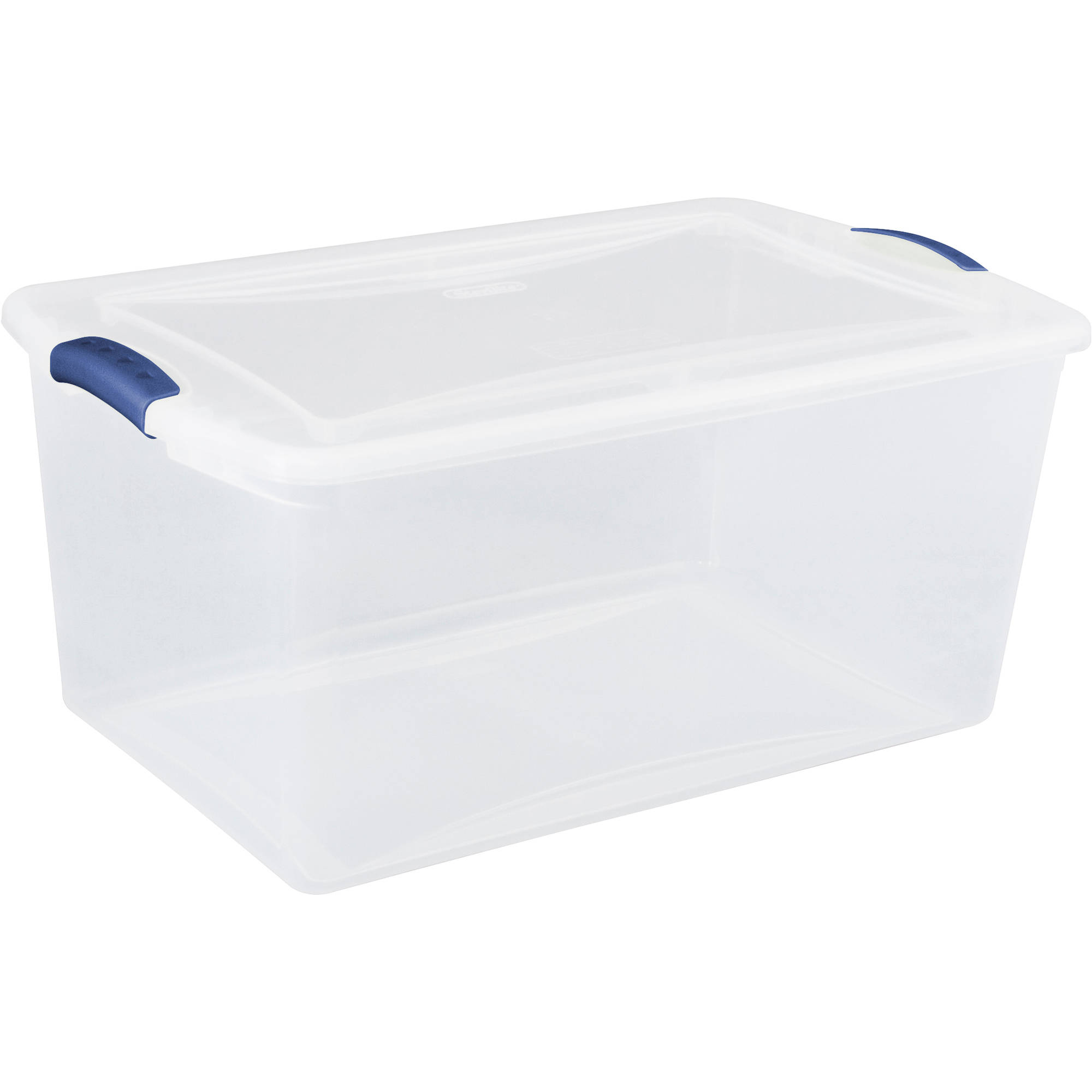 Sterilite 66 Quart Latch Box- Blue Eclipse, Set of 6
