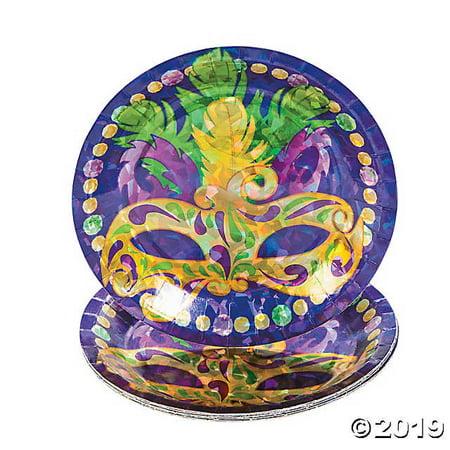 Prismatic Mardi Gras Dessert Plates (Mardi Gras Plates)