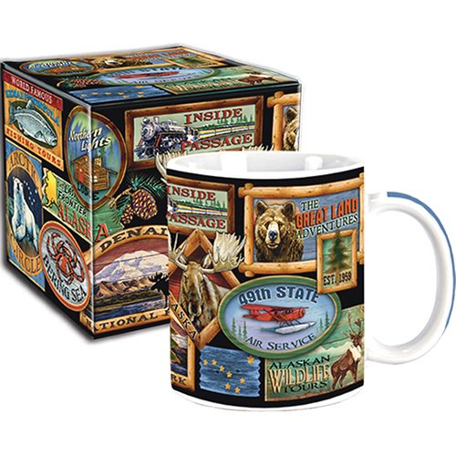 Arctic Circle Alaska Boxed Mug Lodge Signs