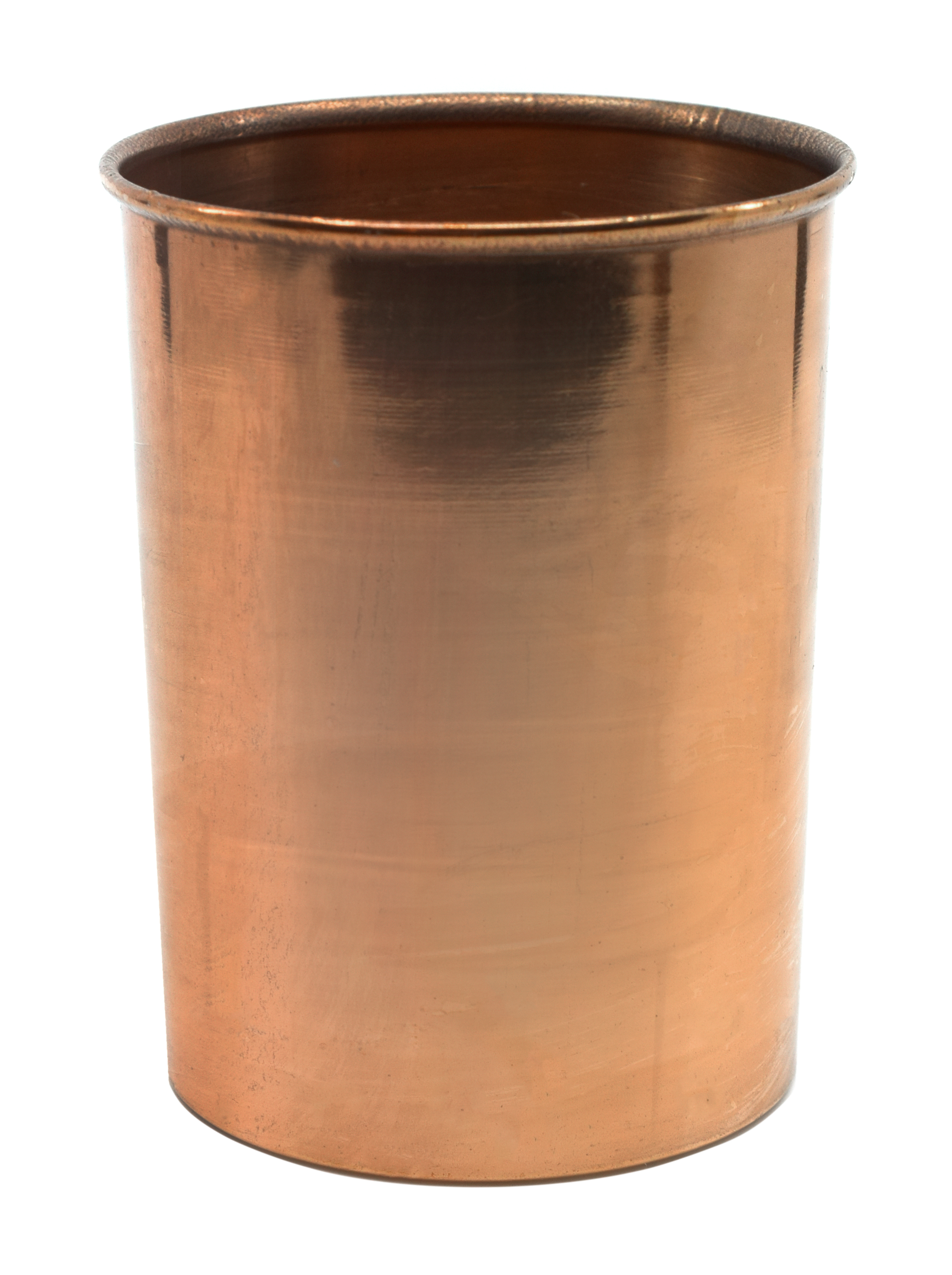 "Copper Calorimeter, 4"" x 2.75"" Rolled Rim & Parallel Sides No Stirrer Included Eisco Labs by Eisco"