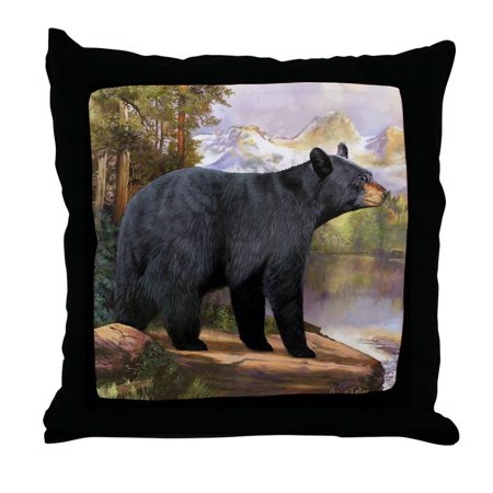 Bears Mvp Pillow - CafePress - Black Bear - Decor Throw Pillow (18