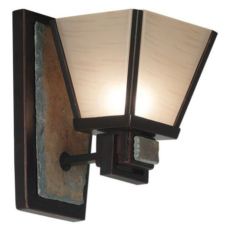 Kenroy 91601ORB Clean Slate 1-Light Wall Scone 6W in. Bronze by
