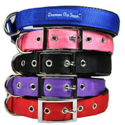 Deluxe Adjustable Thick Comfort Padded Dog Collar by Downtown Pet Supply