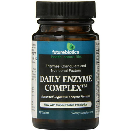 Futurebiotics Daily enzyme comprimés complexes, 75 CT