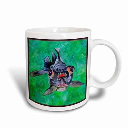 3dRose Blackmoor Goldfish- blackmoor goldfish, telescope goldfish, goldfish, dragon eye goldfish, Ceramic Mug, 11-ounce