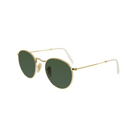 78ff4412ff Ray-Ban - Ray-Ban Women s Mirrored Icons RB3447-001-47 Gold Round Sunglasses  - Walmart.com
