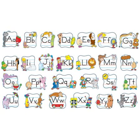Alphabet: Traditional Manuscript Mini Bulletin Board Set by Carson-Dellosa