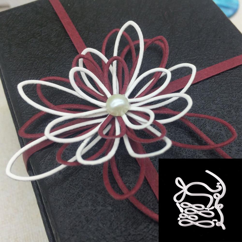 HiCoup Bowknot Flower Style Metal Cutting Die DIY Scrapbook Album Paper Crafts Decor