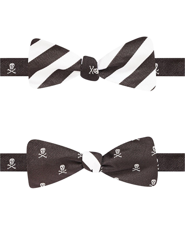 Countess Mara Skull Rugby Reversible Self-Tie Bow Tie