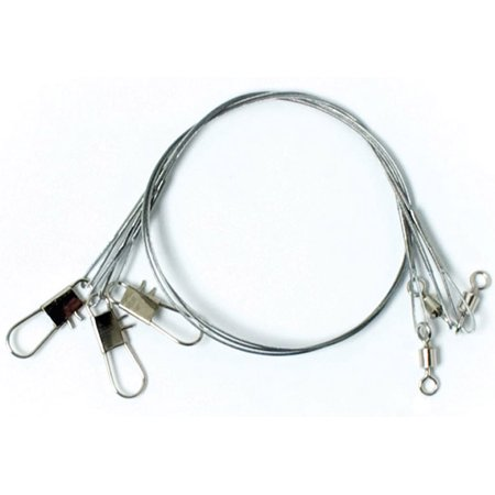 "Eagle Claw Clear/Bright Heavy Duty 12"" Wire Leaders 3-Pack"