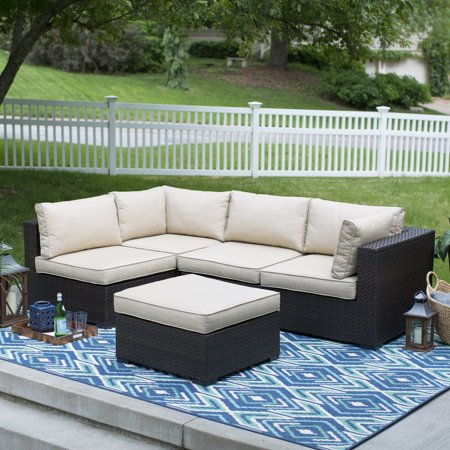 Belham Marcella Wicker Sectional Set Product Picture