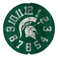 Michigan State Spartans Vintage Round Clock