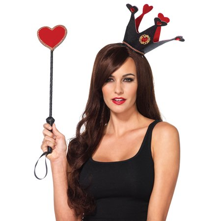 Leg Avenue Women's Crown and Scepter Costume Accessory, Black/Red, One Size](Costume Scepter)