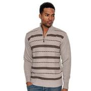 True Rock Men's Texture 1/2 Zip Mock Neck Sweater