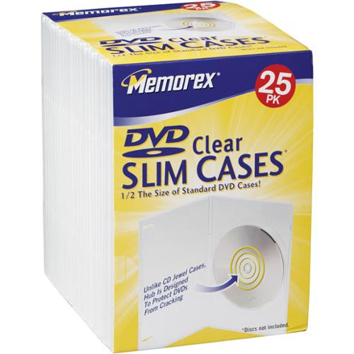 Memorex Slim Clear Dvd Storage Case - Book Fold - Polypropylene - Cd Case (32021985)