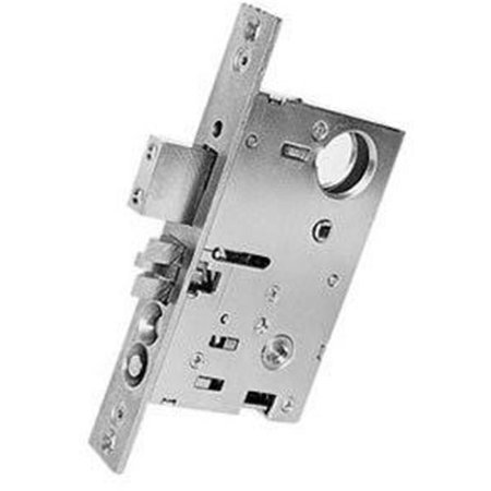 Baldwin 6301260LRLS 2.5 in. Polished Chrome Mortise Lock Left Hand Reverse Lever Strength Entrance with Backset - image 1 of 1