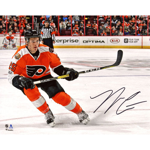 "Nick Cousins Philadelphia Flyers Autographed 8"" x 10"" Orange Jersey Skating Photograph No Size by Fanatics Authentic"