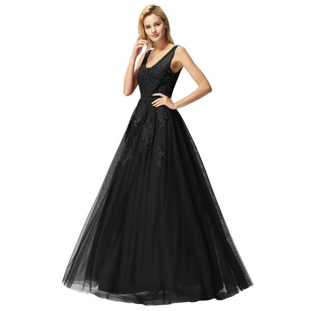 Ever Pretty Ever Pretty Womens Lacey Sexy Gala Party Special Occasion Dresses For Women 77232 Black Us10 Walmart Com Walmart Com