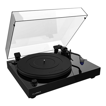 Fluance RT84 Reference High Fidelity Vinyl Turntable Record Player with Ortofon 2M Blue Cartridge, Speed Control Motor, Solid Wood Plinth, Vibration Isolation Feet - Piano Black Ortofon Record Bag