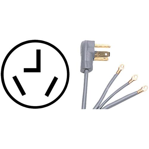 Certified Appliance 90-1028 3-Wire Dryer Cord, 10'