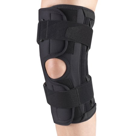 OTC Orthotex Knee Stabilizer Wrap - Spiral Stays, Black,