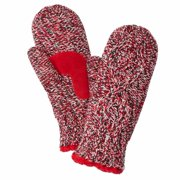 Isotoner Womens Red Marled Cable Knit Mittens with Sherpasoft Lining