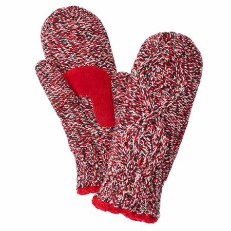 Cable Mitten - Isotoner Womens Red Marled Cable Knit Mittens with Sherpasoft Lining