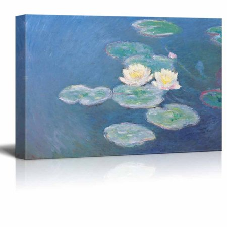 Lilies Oil Painting - wall26 Water Lilies by Claude Monet - Canvas Print Wall Art Famous Painting Reproduction - 16