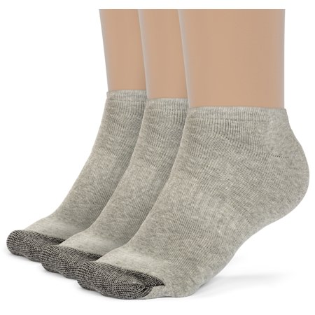 Women's Cotton Comfort Low Cut Cushion Socks - 3 Pairs
