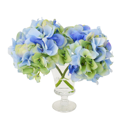 Creative Displays, Inc. Hydrangea Blossoms in Acrylic Glass Vase