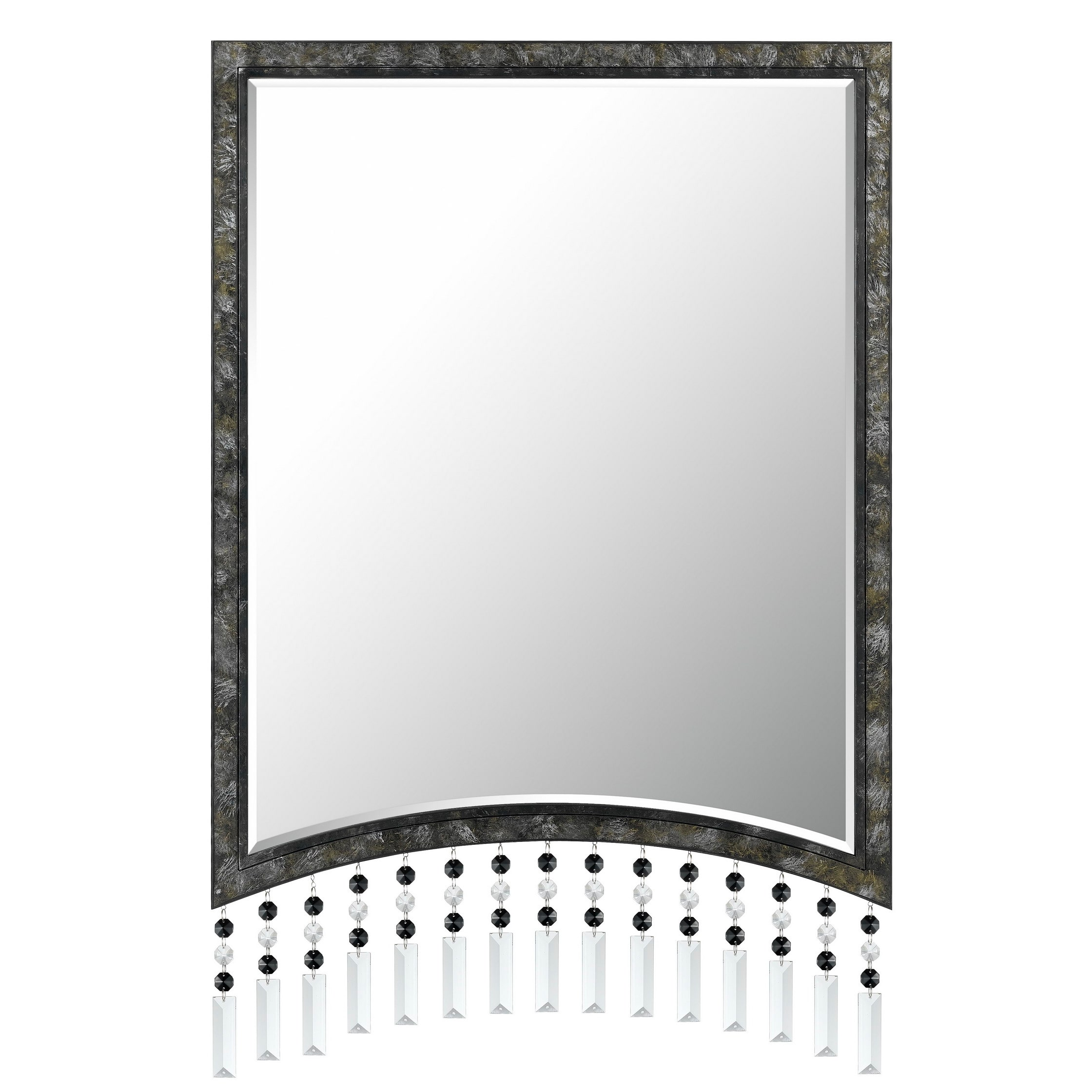 Cal Lighting Argenta Beaded Rectangular Metal Mirror by Overstock