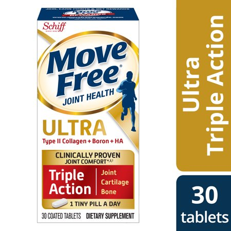 Move Free Ultra Triple Action, 30 tablets, Joint Health Supplement with Type II Collagen, Boron and HA â One Tiny Pill