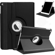 For iPad 10.2 Case,iPad 7th Generation Case, 360 Degrees Rotating Stand PU Leather Case for New iPad 10.2 7th Generation 2019 Auto Sleep/Wake Tablet - Black