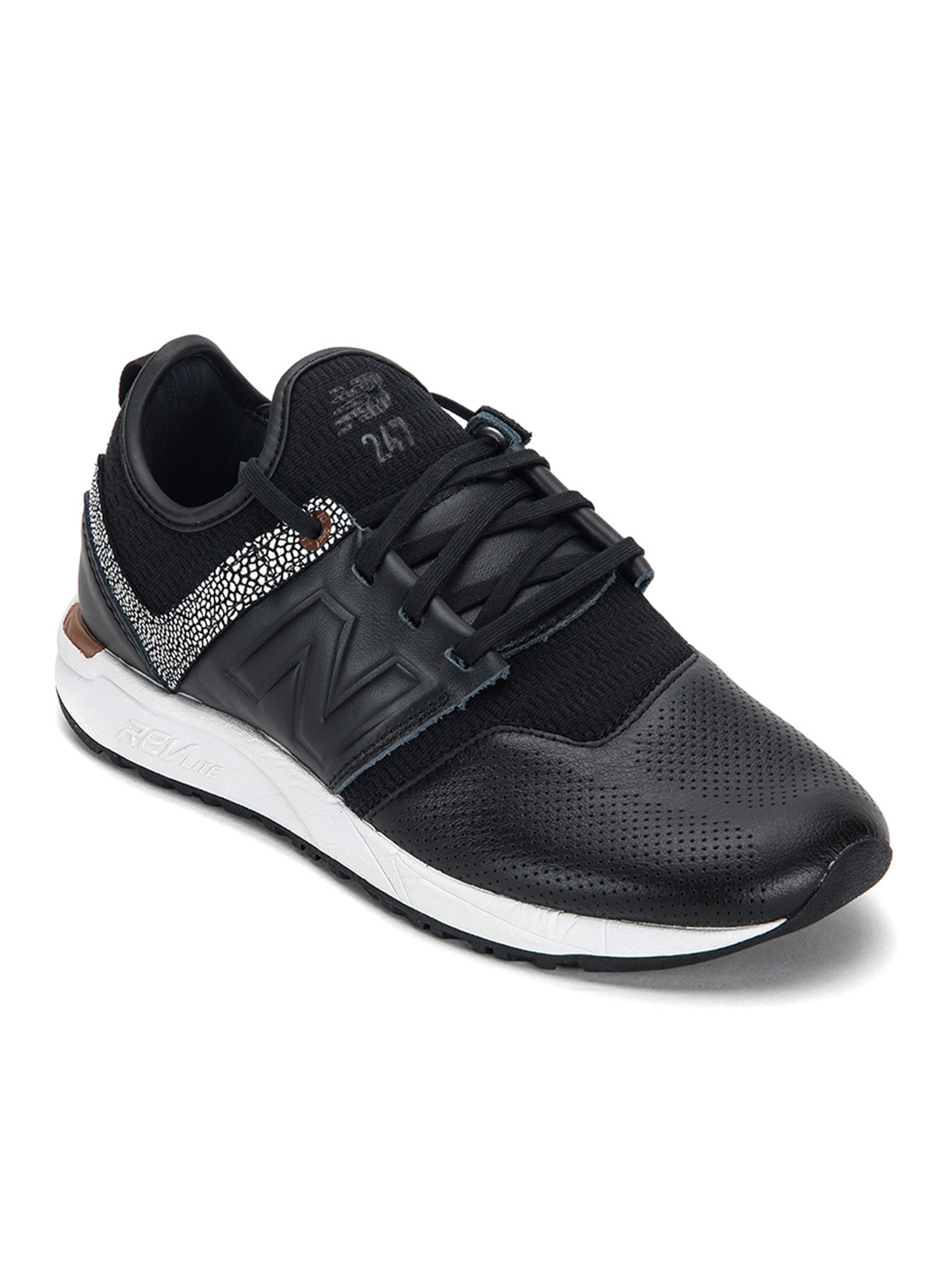 New Balance Women's 247 NB Grey Sneakers WRL247GY Black Copper Metallic by