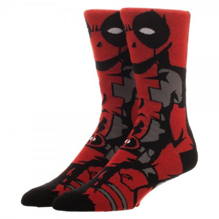 Crew Sock - Marvel - Comics Deadpool 360 New cr4iaumvu - Deadpool Colors