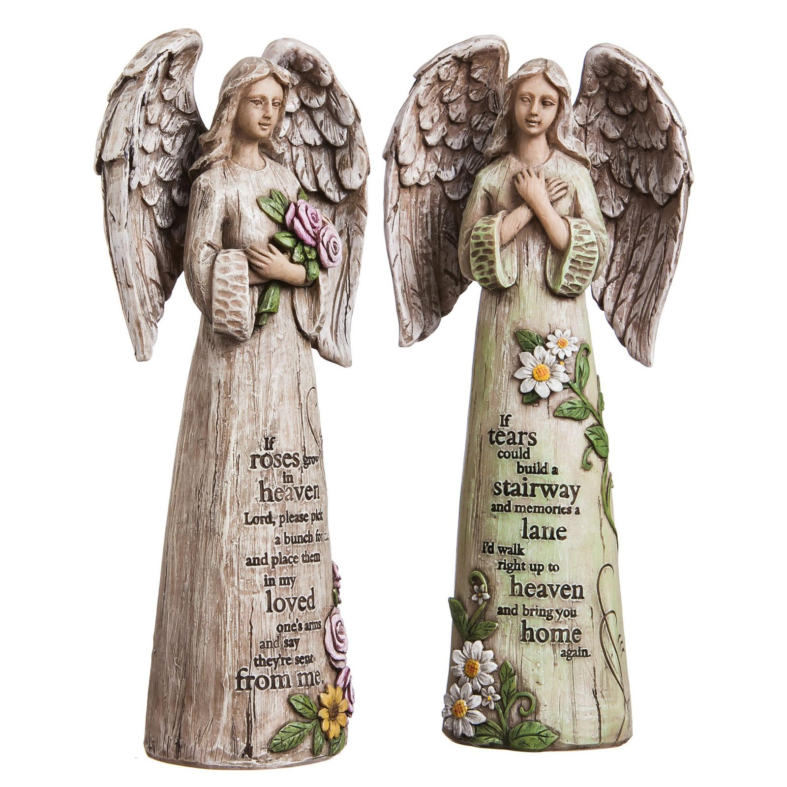Evergreen Enterprises Wishgivers Angel Statue - Set of 2