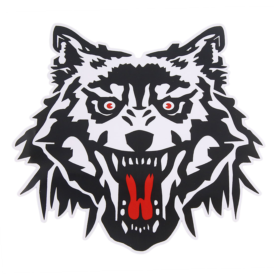 Black white wolf decal printed styling adhesive car vehicle sticker
