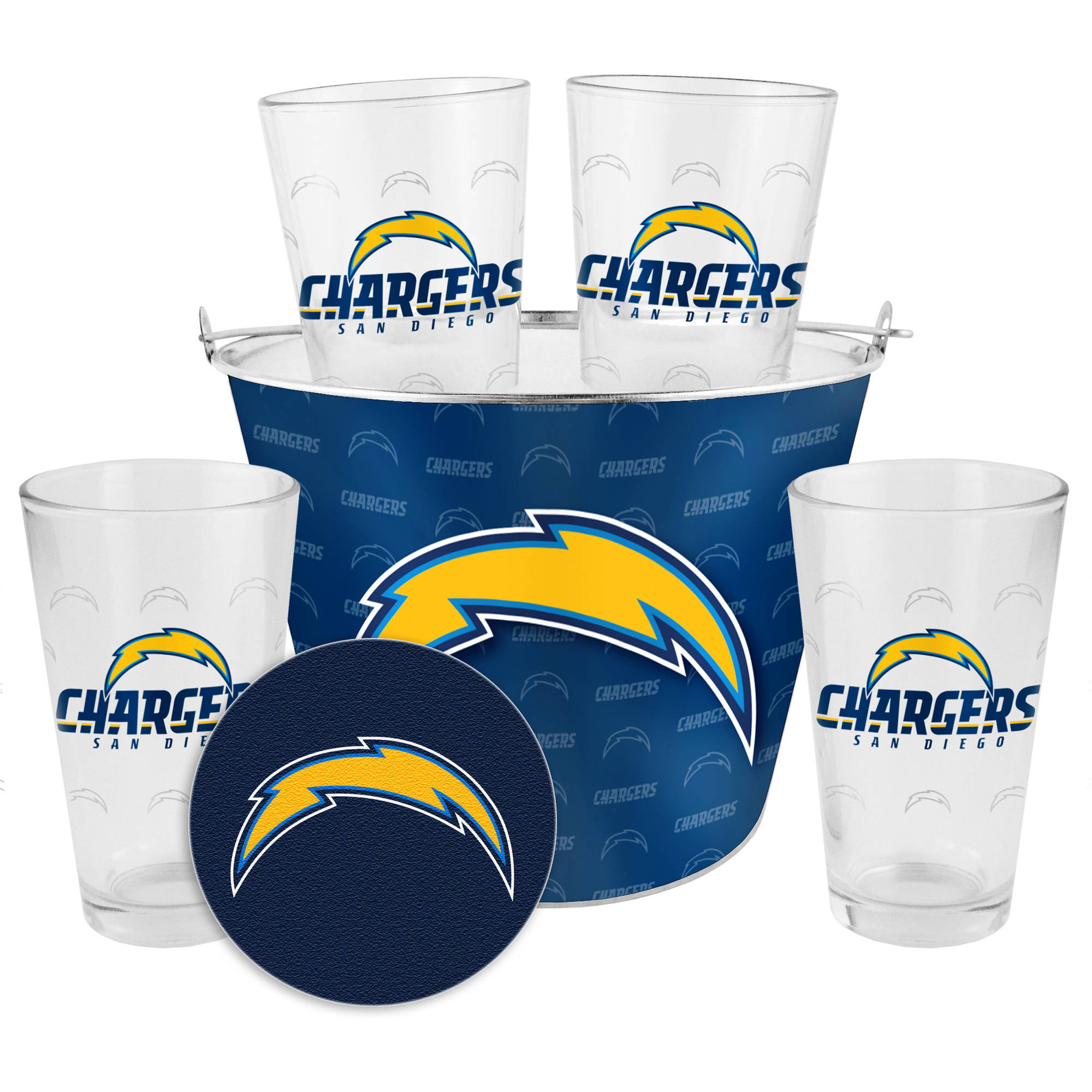 San Diego Chargers Gifts: Boelter Brands NFL Gift Bucket Set, San Diego Chargers