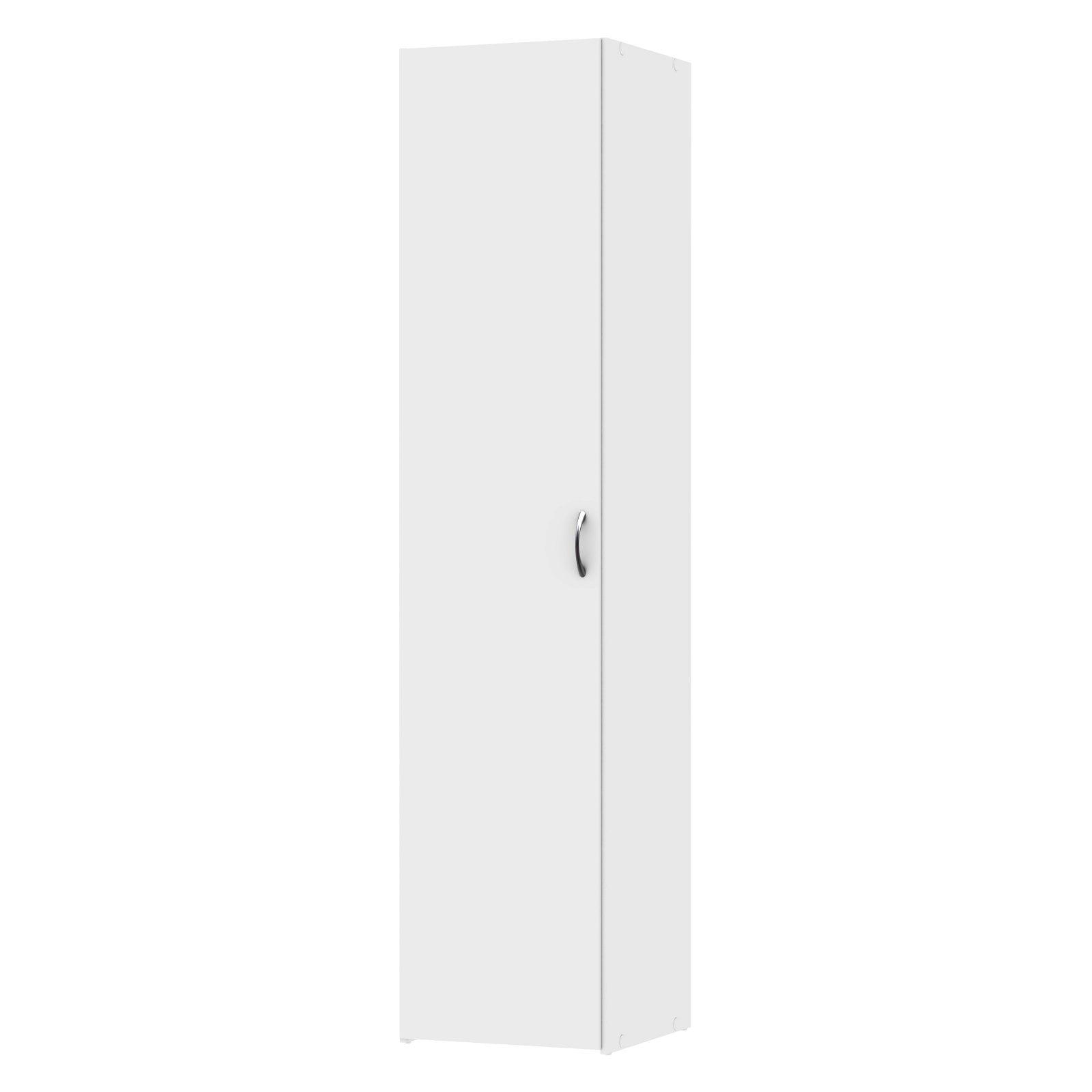 Space Wardrobe with 1 Door; White