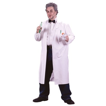 Mad Scientist Lab Coat Adult Halloween Costume - One Size (Halloween Costumes For Labs)