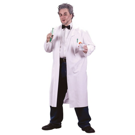Mad Scientist Lab Coat Adult Halloween Costume - One Size](White Fur Coat Costume)