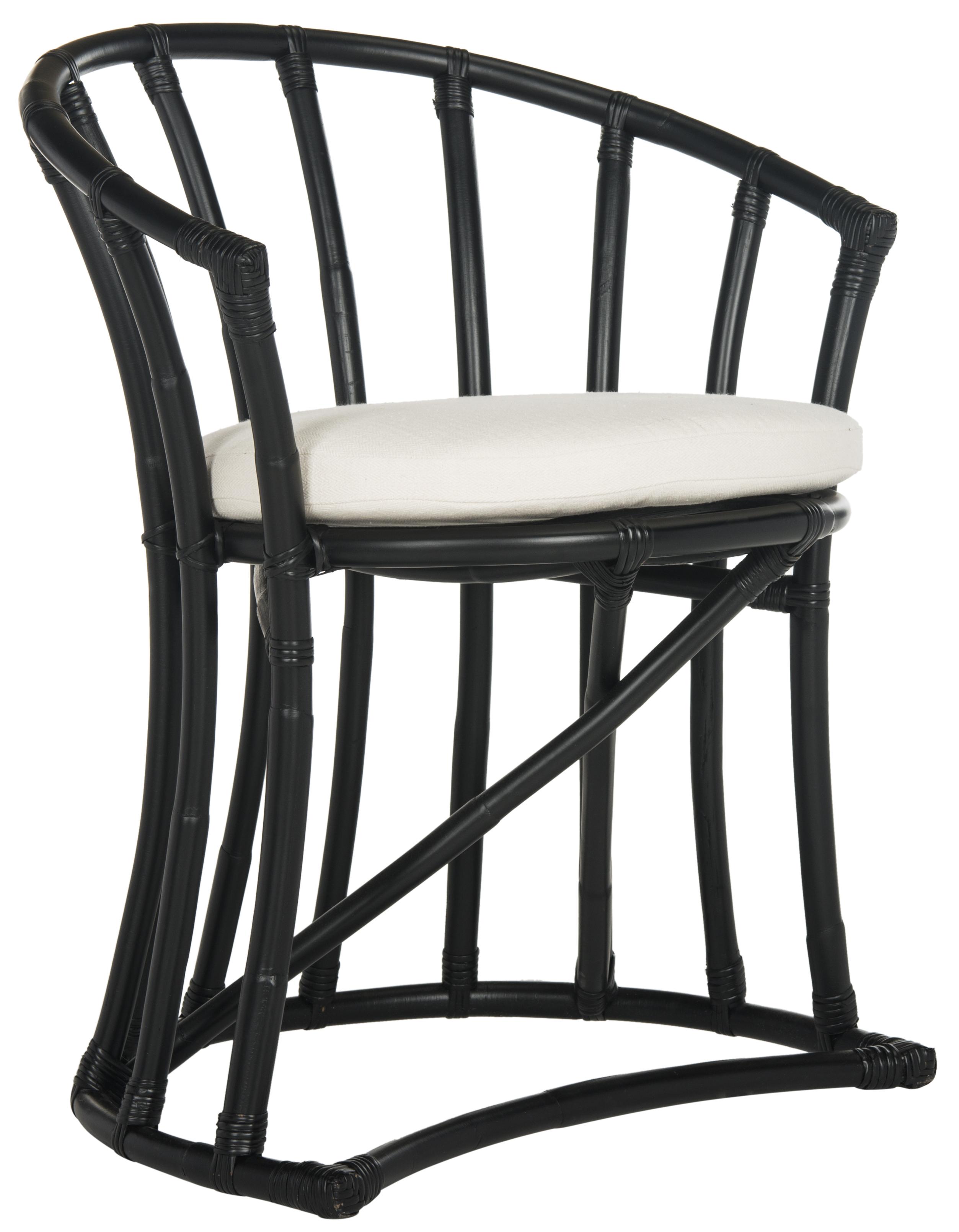 Safavieh Bates Rattan Accent Chair, Black by Safavieh