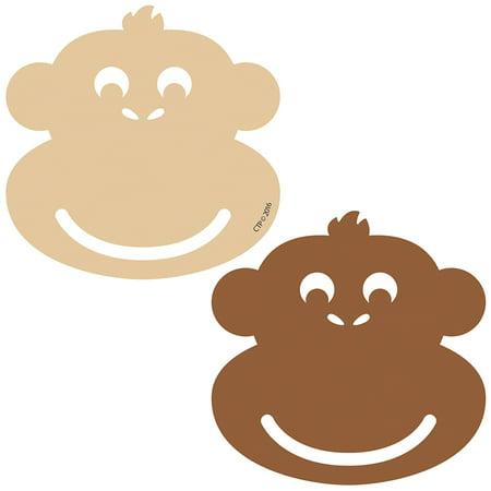 Monkeys Calendar - MONKEY 3IN CALENDAR CUT OUTS